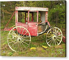 Acrylic Print featuring the photograph Old Horse Drawn Carriage by Sherman Perry