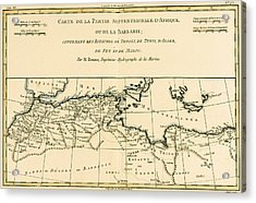 Antique Map Of North Africa Acrylic Print by Guillaume Raynal