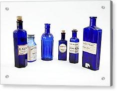 Antique Pharmacy Bottles Acrylic Print by Gregory Davies, Medinet Photographics