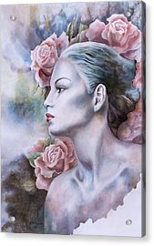 Antique Rose Acrylic Print by Tanya Jacobsz