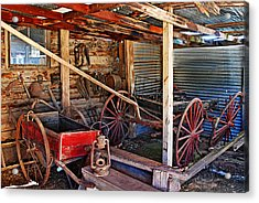 Antique Shed Acrylic Print by Melany Sarafis