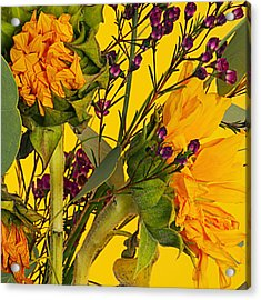Antique Sunflower Acrylic Print by Michelle Armstrong