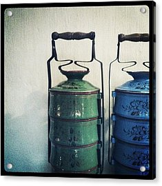Antique Tiffin Carriers Acrylic Print