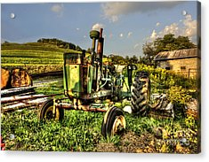 Antique Tractor Acrylic Print by Dan Friend
