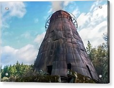 Acrylic Print featuring the photograph Antique Wigwam Burner by Tyra  OBryant