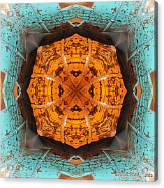 Acrylic Print featuring the photograph Antique Wood Baskets Kaleidoscope by Barbara MacPhail