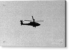 Apache Attack Helicopter Acrylic Print by Darren Burroughs
