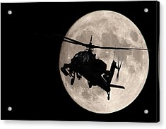 Apache In The Moonlight Acrylic Print
