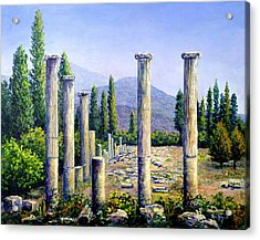 Acrylic Print featuring the painting Aphrodesias Ruins by Lou Ann Bagnall