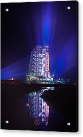 Apollo 11 Sits On Its Launchpad Acrylic Print by O. Louis Mazzatenta