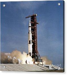 Apollo 11 Space Vehicle Taking Acrylic Print