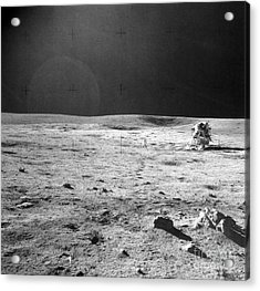 Apollo 14 & Shepard On Moon Near Fra Acrylic Print