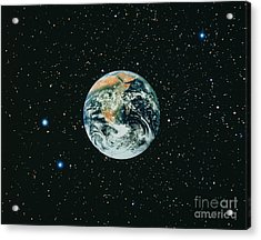 Apollo 17 View Of Earth With Starfield Acrylic Print by NASA / Science Source