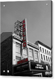 Apollo Theater In Harlem New York No.2 Acrylic Print by Ms Judi