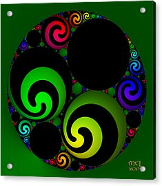 Apollonian Gasket Variant Iv  Acrylic Print by Manny Lorenzo