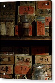 Acrylic Print featuring the photograph Apothecary by Newel Hunter
