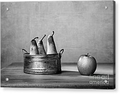 Apple And Pears 02 Acrylic Print by Nailia Schwarz