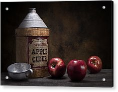 Apple Cider Still Life Acrylic Print by Tom Mc Nemar
