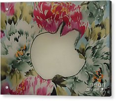 Acrylic Print featuring the painting Apple by Dongling Sun