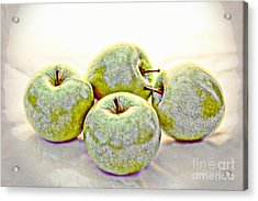Apple Dust Acrylic Print by David Taylor