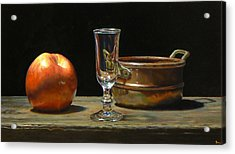 Apple Glass Copper Acrylic Print by Jeffrey Hayes