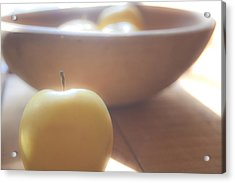 Apple In Waiting Acrylic Print by Toni Hopper