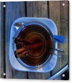 #apple #juice #tea #coffee #cinamon Acrylic Print