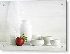 Apple Acrylic Print by Matild Balogh