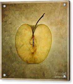 Apple Textured Acrylic Print by Bernard Jaubert