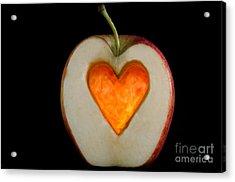 Apple With A Heart Acrylic Print
