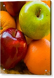 Apples And Oranges Acrylic Print by Jim  Arnold