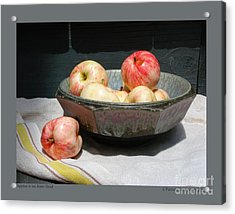 Apples In An Aerni Bowl Acrylic Print