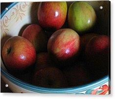 Apples In Ceramic Bowl Acrylic Print