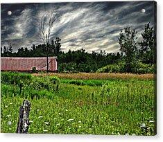 Approaching Storm  Acrylic Print by Ms Judi