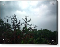 Acrylic Print featuring the photograph Approaching Storm Viewed Through My Rain Streaked Window by Lon Casler Bixby