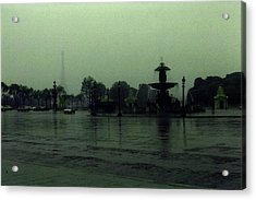 Acrylic Print featuring the photograph April Fog With Water Fountain by Louis Nugent
