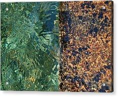 Aqua Petra Acrylic Print