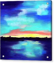 Aqua Reflections Acrylic Print by Diana Tripp