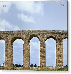 Aqueduct Of Acre Acrylic Print by Noam Armonn