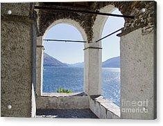 Arch And Lake Acrylic Print