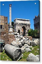 Arch Of Septimius Severus Acrylic Print by Gregory Dyer