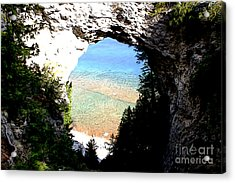 Acrylic Print featuring the photograph Arch Rock by Anne Raczkowski