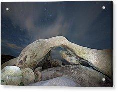 Arch Rock With Stars, Joshua Tree National Park Acrylic Print by Daniel Osterkamp