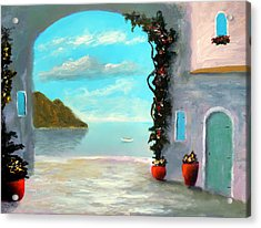 Arch To The Sea Acrylic Print by Larry Cirigliano