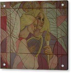 Archangel And Faith Acrylic Print