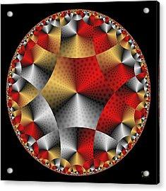 Acrylic Print featuring the digital art Archangel Michael's Shield by Manny Lorenzo