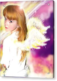 Archer.angelic 2 Acrylic Print by Nada Meeks
