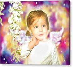 Archer.angelic 3 Acrylic Print by Nada Meeks