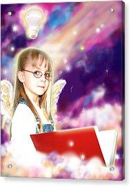 Archer.angelic Acrylic Print by Nada Meeks