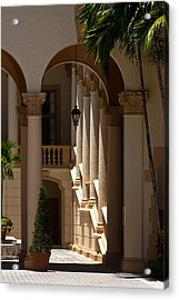 Acrylic Print featuring the photograph Arches And Columns At The Biltmore Hotel by Ed Gleichman